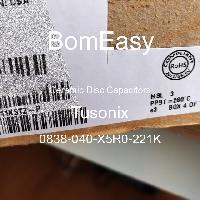 0838-040-X5R0-221K - Tusonix - Tụ đĩa gốm
